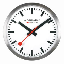 MONDAINE モンディーン 壁掛け時計 ウォールクロック ホワイト 25cm スイス国鉄オフィシャル 鉄道ウォッチ A990.CLOCK.16SBB優美堂のモンディーンはメーカー保証つきの正規商品です。