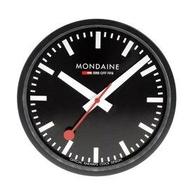 MONDAINE モンディーン 壁掛け時計 ウォールクロック ブラック 25cm スイス国鉄オフィシャル 鉄道ウォッチ A990.CLOCK.64SBB優美堂のモンディーンはメーカー保証つきの正規商品です。