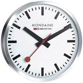 MONDAINE モンディーン 壁掛け時計 ウォールクロック ホワイト 40cm スイス国鉄オフィシャル 鉄道ウォッチ A995.CLOCK.16SBB優美堂のモンディーンはメーカー保証つきの正規商品です。