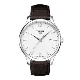 TISSOT 腕時計 ティソ 公式 メンズ トラディション クォーツ シルバー文字盤 レザー TRADITION T0636101603700 【正規輸入品】