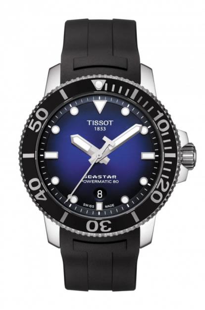 TISSOT 腕時計 ティソ 公式 メンズ シースター1000 パワーマティック80 オートマティック ブルー文字盤 ラバー T1204071704100 優美堂のティソはメーカー保証2年つきの正規代理店商品です。優美堂 分割払いできます。