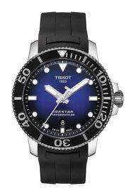 TISSOT 腕時計 ティソ メンズ シースター1000 パワーマティック80 オートマティック ブルー文字盤 ラバー T1204071704100 優美堂のティソはメーカー保証2年つきの正規代理店商品です。優美堂 分割払いできます。