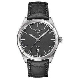 ティソ 腕時計 TISSOT PR100 メンズクォーツガンメタル文字盤モデル T101.410.16.441.00 【正規輸入品】 分割払いもOKです優美堂のTISSOT ティソは2年保証のついた正規代理店商品です