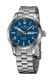フォルティス 【世界限定300本】 FORTIS PC-7チーム エアロマスター デイデイト 腕時計 42mm コーデュラナイロン製ストラップ1本付属 Ref.655.10.55M