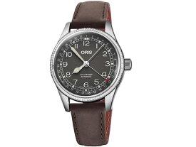 f6fd702514 オリス ビッグクラウン ポインターデイト 36mm ビンテージボーイズサイズ ブラック文字盤 腕時計 75477494064 レザーベルト
