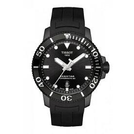 TISSOT 腕時計 ティソ メンズ シースター1000 パワーマティック80 オートマティック ブラック文字盤 ラバーストラップ T120.407.37.051.00