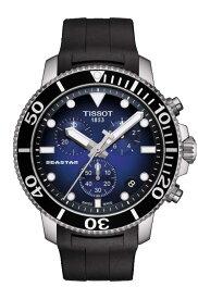 TISSOT 腕時計 ティソ メンズ シースター 1000 クロノグラフ クオーツ ブルーグラデーション文字盤 ラバー T1204171704100 優美堂のティソはメーカー保証2年つきの正規代理店商品です。優美堂 分割払いできます。
