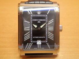 クエルボイソブリノス 腕時計 プロミネンテ クラシコ 正規商品 ブラック Ref.1015-1RN クエルボ・イ・ソブリノス お手続き簡単な分割払いも承ります。月づきのお支払い途中で一括返済することも出来ますのでご安心ください。