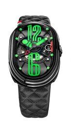 グリモルディ 腕時計 GTO ブラックレザーベルト メンズ GRIMOLDI Gran Tipo Ovale SSSHICE612SL-BK1962年〜1964年にわずかに製造されたフェラーリ250GTOにオマージュした腕時計