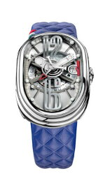 グリモルディ 腕時計 GTO ブルーレザーベルト メンズ GRIMOLDI Gran Tipo Ovale SSSHICE612SL-BL1962年〜1964年にわずかに製造されたフェラーリ250GTOにオマージュした腕時計