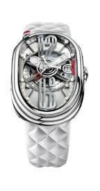グリモルディ 腕時計 GTO ホワイトレザーベルト メンズ GRIMOLDI Gran Tipo Ovale SSSHICE612SL-WH1962年〜1964年にわずかに製造されたフェラーリ250GTOにオマージュした腕時計