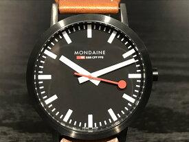 【あす楽、ラスイチ】モンディーン 腕時計 クラシック 40mm メンズ ブラックダイアル ブラウンレザー A660.30360.64SBG優美堂のモンディーンはメーカー保証つきの正規商品です。