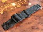 ミリタリー時計ナイロン時計バンド時計ベルト20mmブラック黒色「踊る大捜査線」でウェンガー70725に装着して話題になった青島モデル仕様再現