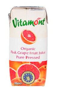 ピンクグレープフルーツジュース 200ml★有機JAS(無農薬・無添加)★オーガニック★砂糖不使用