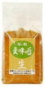 海の精 国産・麦味噌 1kg★国産100%★杉桶を用いじっくり発酵・熟成