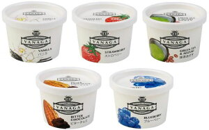 無添加アイスクリーム 木次 VANAGA 5個セット■バニラ・いちご・抹茶あずき・ビターチョコ・ブルーベリー 120ml×各1個★天然素材100パーセント