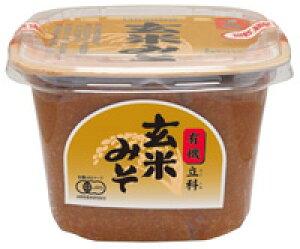 無添加味噌・立科玄米みそ(カップ)750g★有機JAS(無農薬・無添加)★国内産100%★甘口