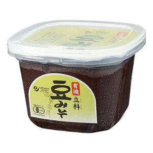 無添加豆味噌有機立科豆みそ (カップ) 750g★天然醸造法★有機JAS(無農薬・無添加)