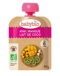 無添加 baby bio 有機ベビースムージー キウイ・マンゴー・ココナッツ 90g★5個までコンパクト便可 有機JAS