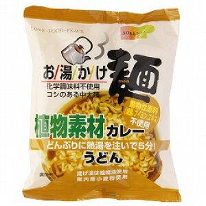 無添加お湯かけ麺・植物素材カレーうどん 81g★国内産小麦粉使用