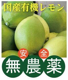 国産有機レモン【2個】★ノーワックス★防カビ剤不使用★香川県★万一カビてお届けした場合はお取替えいたします。
