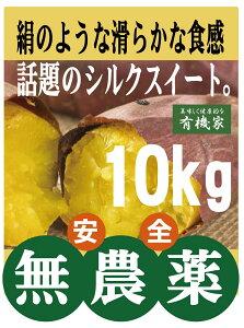 無農薬さつま芋 シルクスイート10kg★無農薬栽培★国内産100%