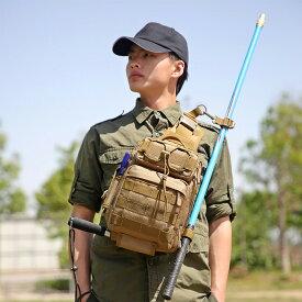 多機能 大容量 iPad4収納可 迷彩柄 釣り用 肩掛け アウトドア 釣り道具収納バッグ 釣り袋 タックルバッグ フィッシングバッグ 釣りバッグ ワンショルダーバッグ 斜めがけバッグ