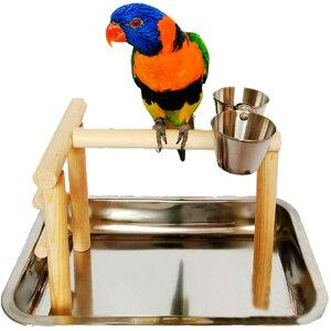 バードアスレチック 鳥スタンド 止まり木 餌台 鳥かご インコ オウム 遊園地 ブランコ ケージスタンド