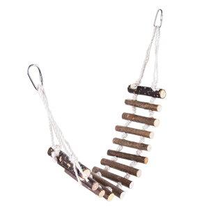 インコ はしご おもちゃ 木製 鳥 止まり木 吊り下げ 小鳥 とまり木 アスレチック セキセイ ゲージ 遊び場 グッズ
