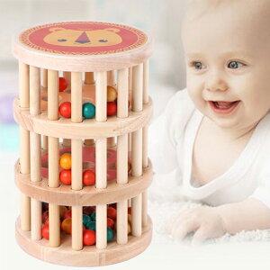 ラトルタワー 木のおもちゃ おもちゃ 木製 玩具 誕生日 クリスマス プレゼント 出産祝い ギフト 知育玩具 男の子 女の子 ベビー 赤ちゃん ボール ビー玉 コロコロ 転がし がらがら ラトル