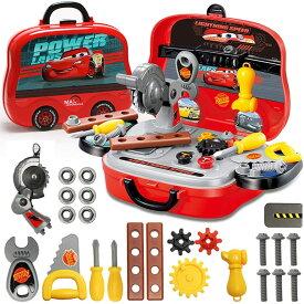 男の子のおもちゃ 知育玩具 おままごと 大工さん なりきりセット 収納BOX付き (大工セット(カーズ))