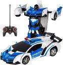電動RCカー おもちゃの車 リモコンカー ラジコンカー ロボットに変換することができます 非常にクールなデザイン 2色 …