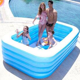 ビニールプール インフレータブル 折りたたみ スイミングプール 長方形 ファミリープール 大型 地上プール 供入浴プール 水 プール 子供用プール 子供用 水遊び 猛暑対策 家庭用プール 屋内用 お庭用 ビーチ用 210cm