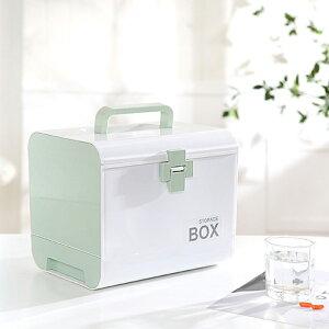 薬箱 大容量 おしゃれ 引き出し 鍵つき くすり箱 きゅうきゅうばこ 救急ボックス 薬収納 薬 仕分けケース メディカルボックス 救急箱 応急箱 家庭用 車載用