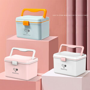 救急箱 薬箱 おしゃれ 大容量 くすりばこ プラスチック 取っ手 鍵付き かわいい 薬入れ 家庭用 アウトドア 旅行用 災害用 携帯便利 薬収納ボックス