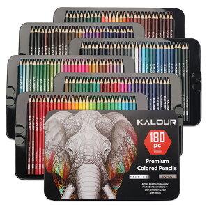 180色色鉛筆(番号付き)- 使い勝手の良さ - 大人・子供用プロ並み色鉛筆セット - 大人向け塗絵、マンダラ、学習用・新学期用に最適