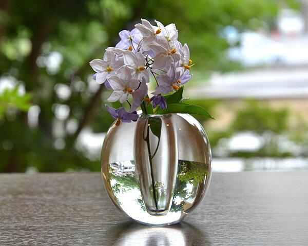 ガラス花器 Glass Art Vase(丸)  作家「原光弘」