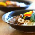 和食器お試しセット天目釉カレー皿セット(2客組)作家「多屋嘉朗」