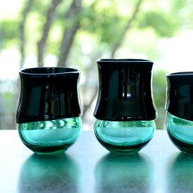 """ガラス DOMAKI """"Green"""" カップ(丸) 作家「飯田将平」"""