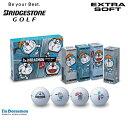 日本正規品 ブリヂストン ゴルフ ドラえもん エクストラソフト ゴルフボール 1ダース(12球入)【数量限定モデル】【B…