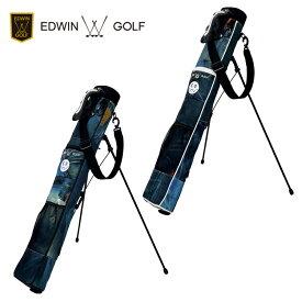 エドウィン ゴルフ EDWIN GOLF セルフスタンドバッグ スタンド式 クラブケース EDWIN-341RB ジーンズ柄 【エドウィンゴルフ】【ゴルフバッグ】