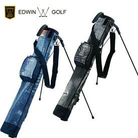 エドウィン ゴルフ EDWIN GOLF セルフスタンドバッグ スタンド式 クラブケース EDWIN-344RB ジーンズ柄 【エドウィンゴルフ】【ゴルフバッグ】