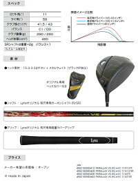 LynxリンクスPARALLAXVS超短尺ドライバーパララックスカーボンシャフト【高反発】【LYNX】【短尺設計】【カーボン】