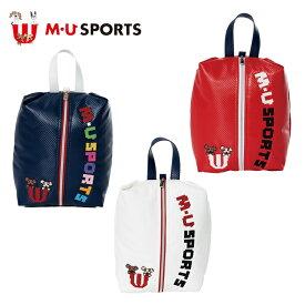 MU SPORTS MUスポーツ シューズケース シューズバッグ 703D1360 【シューズ入れ】【スパイク入れ】【M・U SPORTS】【MUスポーツ】【エムユー】