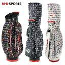 MU SPORTS MU スポーツ キャディバッグ 8.5型 取り外し可能ポーチ付き ゴルフバッグ 703P1104 【ロゴ柄】【バッグ】…
