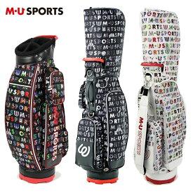 MU SPORTS MU スポーツ キャディバッグ 8.5型 取り外し可能ポーチ付き ゴルフバッグ 703P1104 【ロゴ柄】【バッグ】【M・U SPORTS】【MUスポーツ】【エムユー】