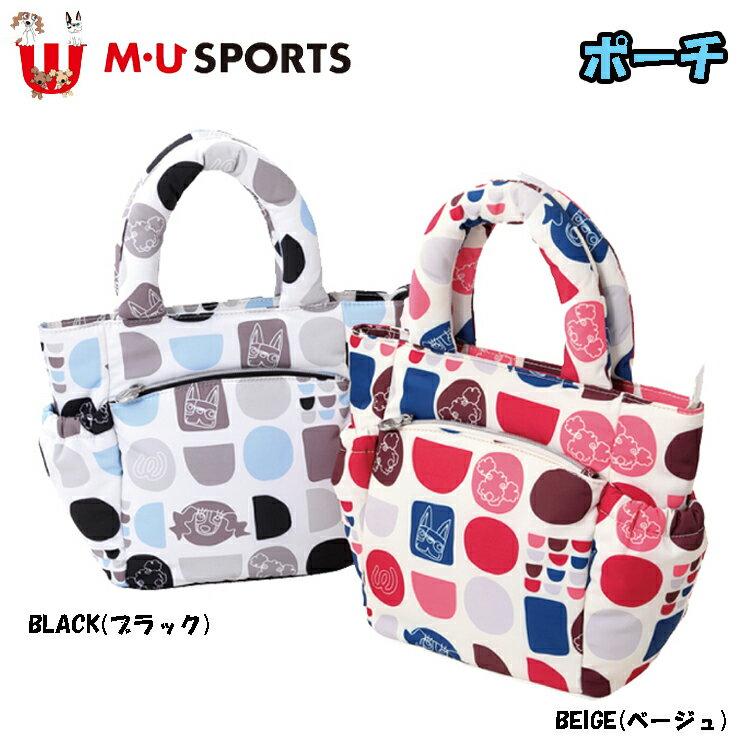 日本正規品 MU SPORTS MUスポーツ 703V2010 レディース ポーチ 小物入れ 【ラウンド】【ポーチ】【カートバッグ】【ジオメトリック柄】