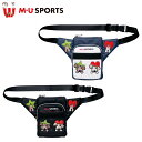 日本正規品 MU SPORTS MUスポーツ 703W6024 レディース ラウンドポーチ ウエストポーチ 【ラウンド】【ポーチ】【M・…