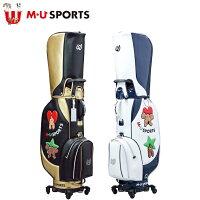 日本正規品MUSPORTSMUスポーツ703W6104レディースゴルフバック8.5型キャディバッグローリングソール【M・USPORTS】【MUスポーツ】【エムユー】