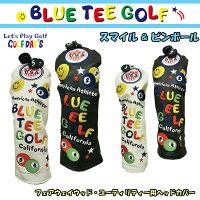 【即納】ブルーティーゴルフフェアウェイウッド用ユーティリティー用ヘッドカバースマイル&ピンボール【BLUETEEGOLF】【SMILE&PINBALL】